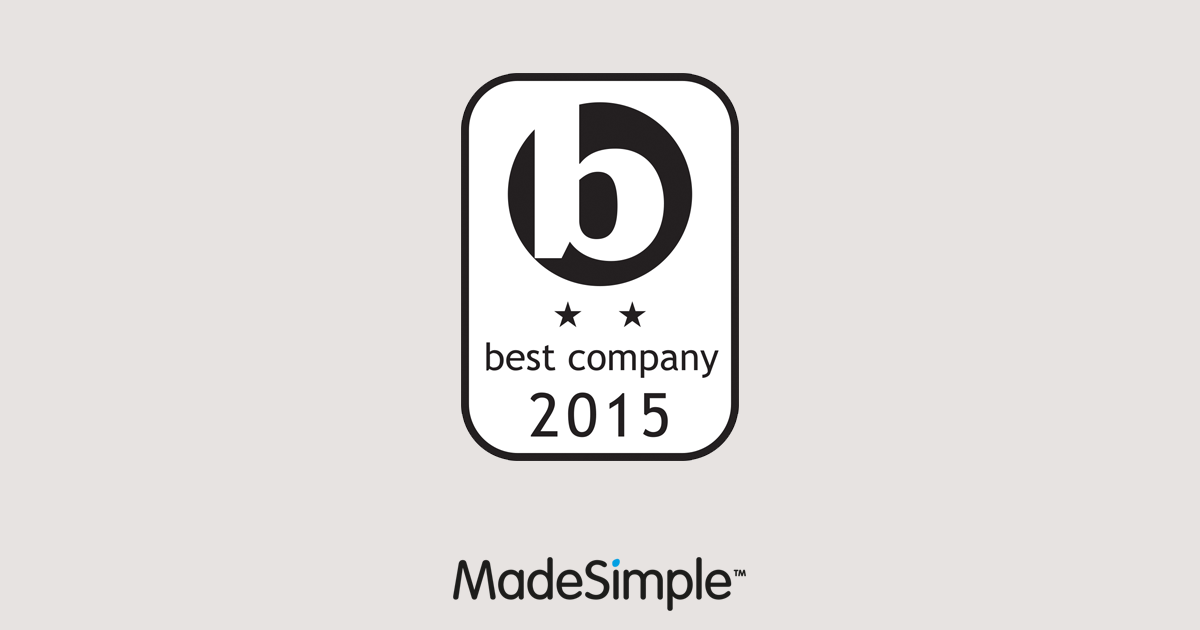 MadeSimple awarded 'Best Companies' 2 star rating