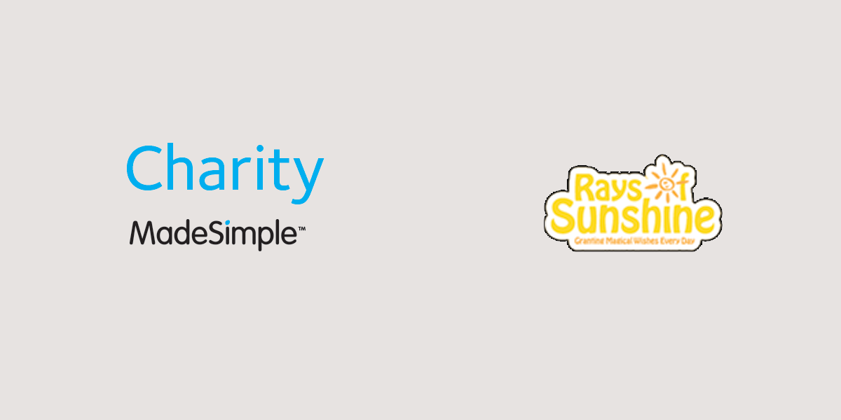 Charity is MadeSimple with Rays of Sunshine...