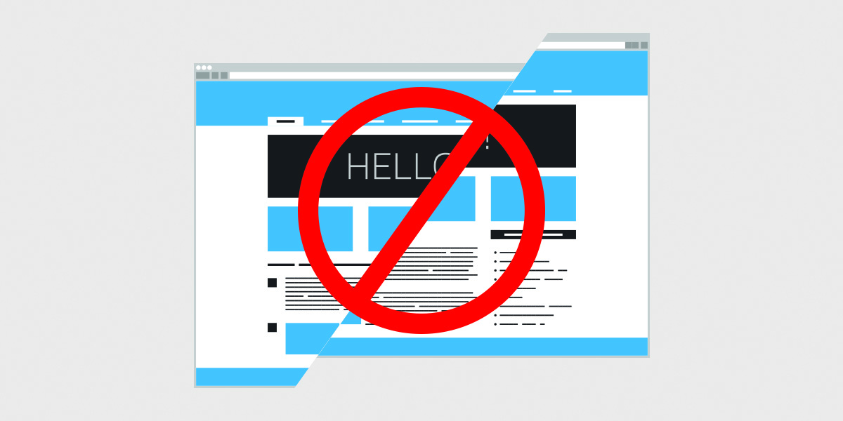 What not to do on your website